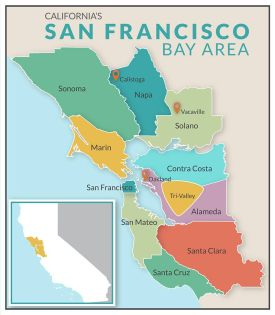 San Francisco Bay Area Map of Counties