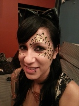 Leopard print face paint by Cynnamon/Bay Area Party Entertainment