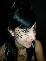 Leopard print spots painted by Cynnamon/Bay Area Party Ent.