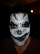 Scary Halloween face painting by Cynnamon/Bay Area party Entertainment