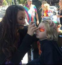 face painting flames at Jammin on Haight2