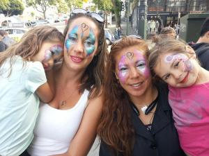 face painted family at Jammin on haigh