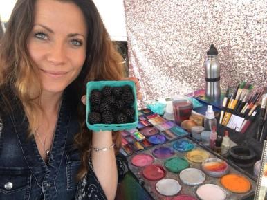 Face painting San Rafael, Ca farmers market July 2018